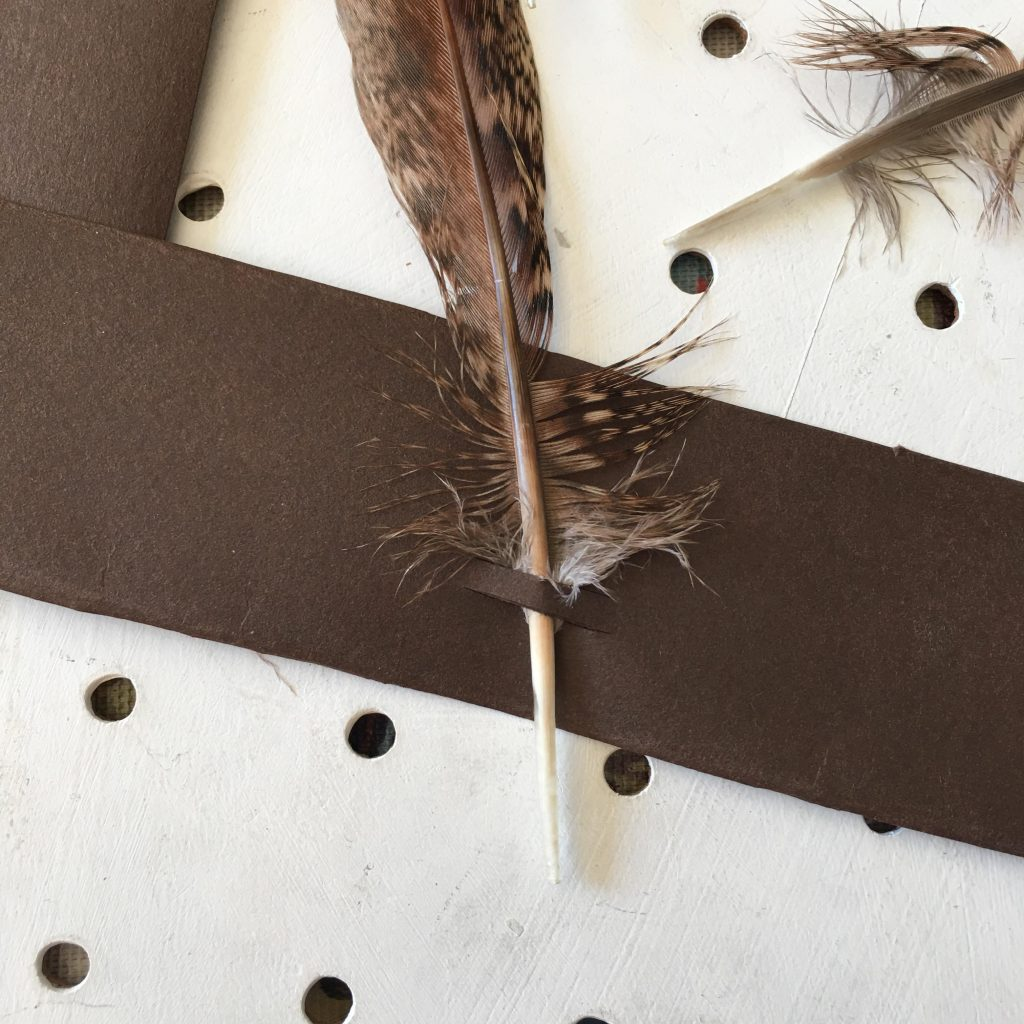 easy feather crown craft for kids
