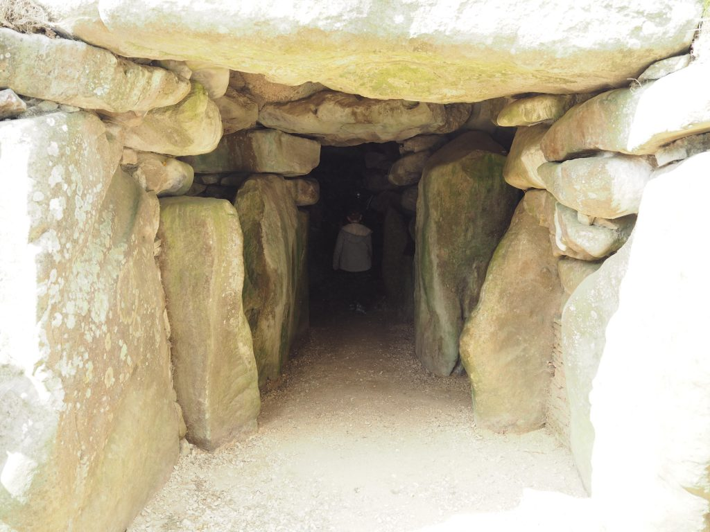 West Kennet Long Barrow with children