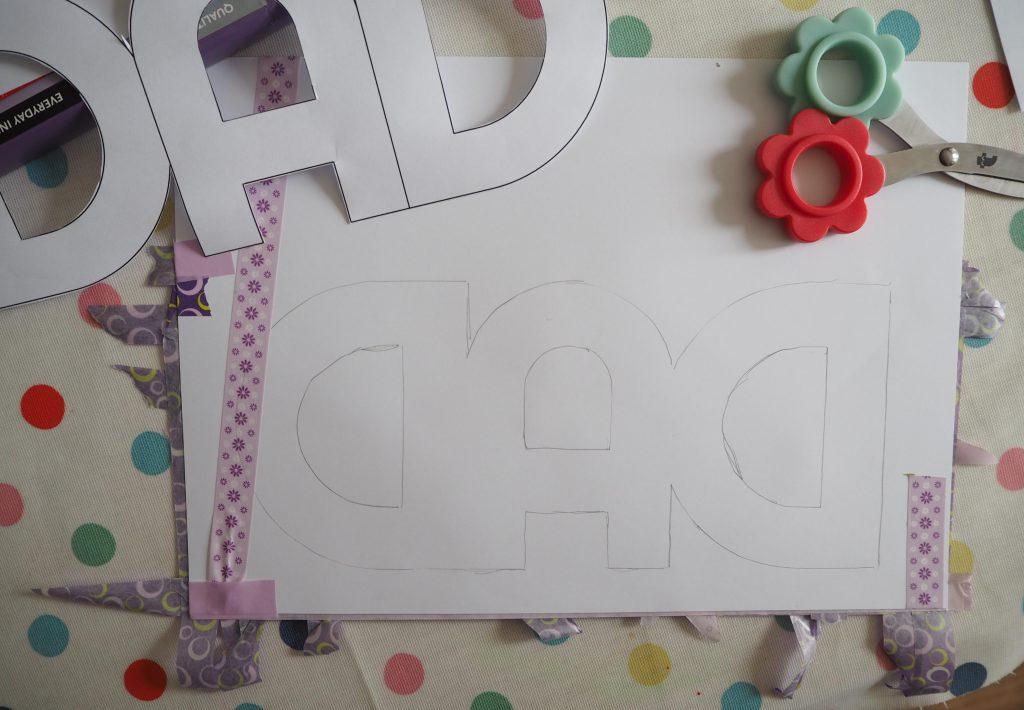 washi tape Father's Day card