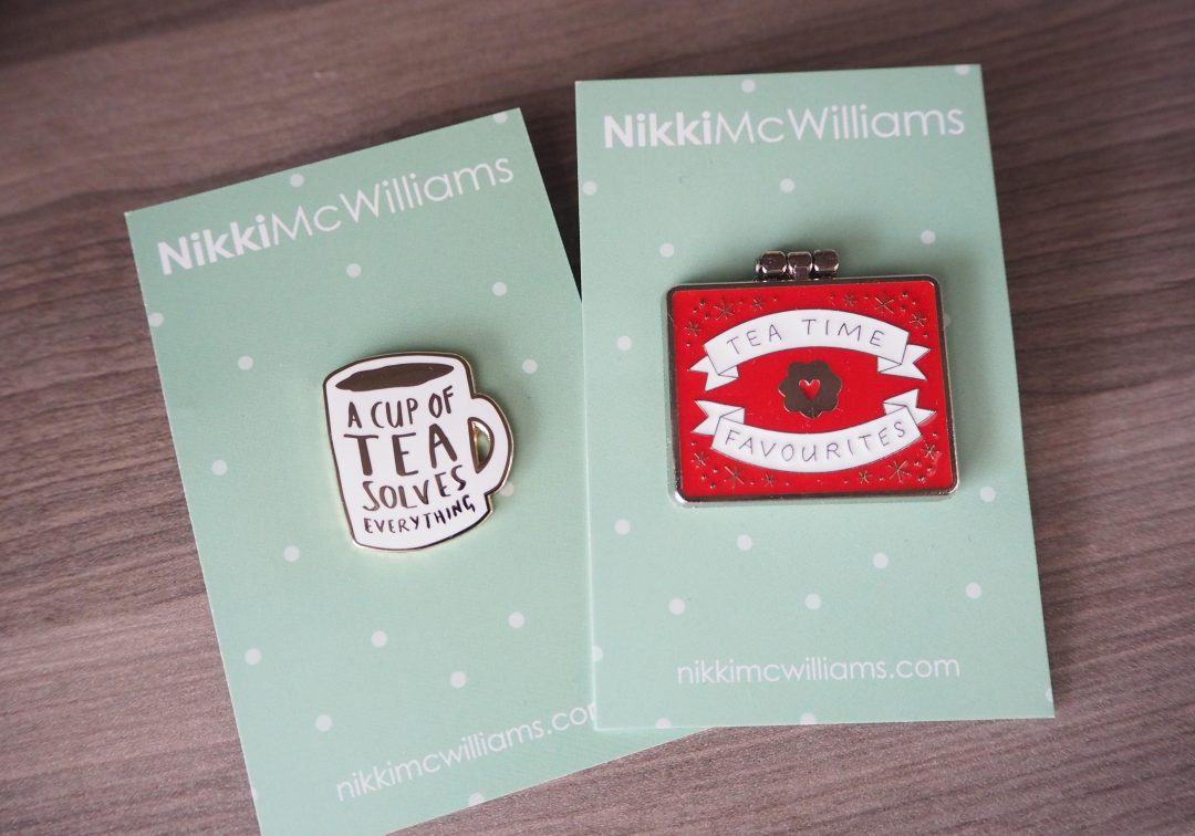new pin badges from Nikki McWilliams