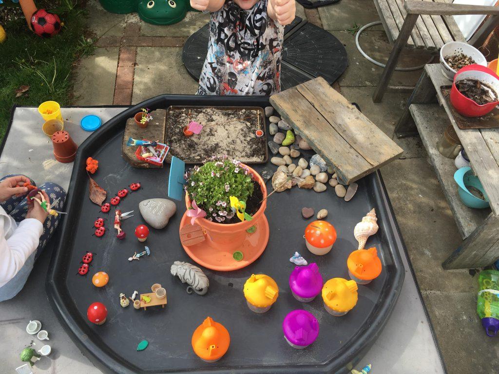 Tuff spot fairy garden play
