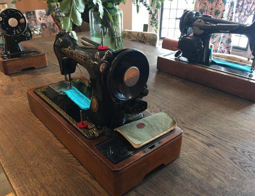 sewing machines at Liberty London