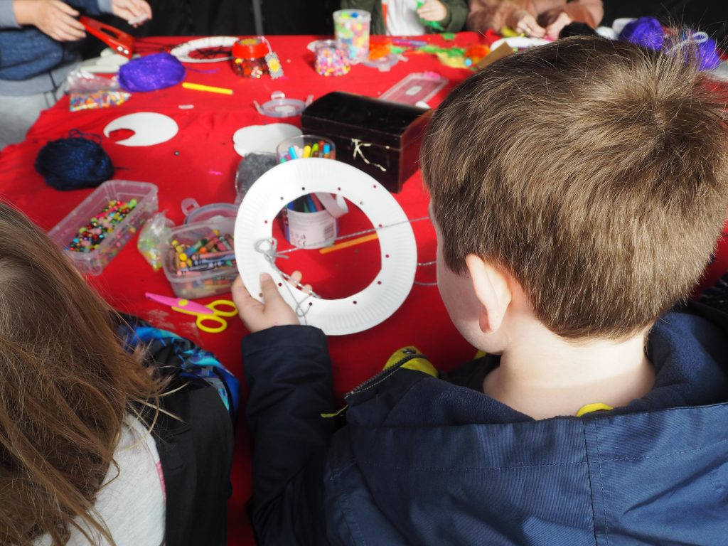 crafting at Old Sarum over half term