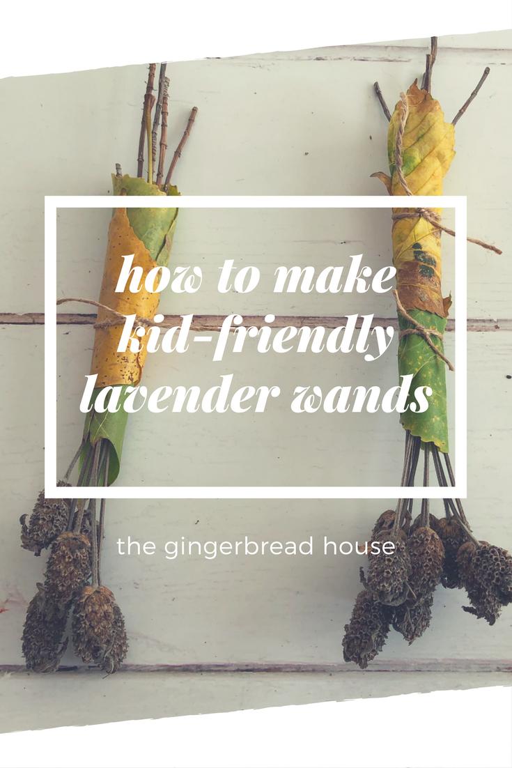 Kid-friendly lavender wands