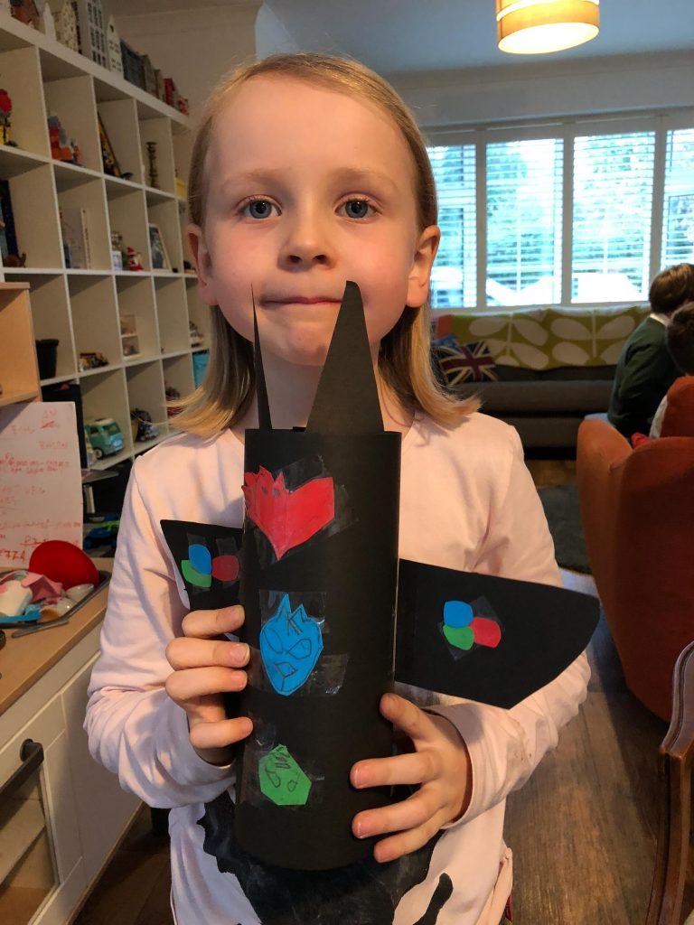 easy PJ Masks craft for kids to make