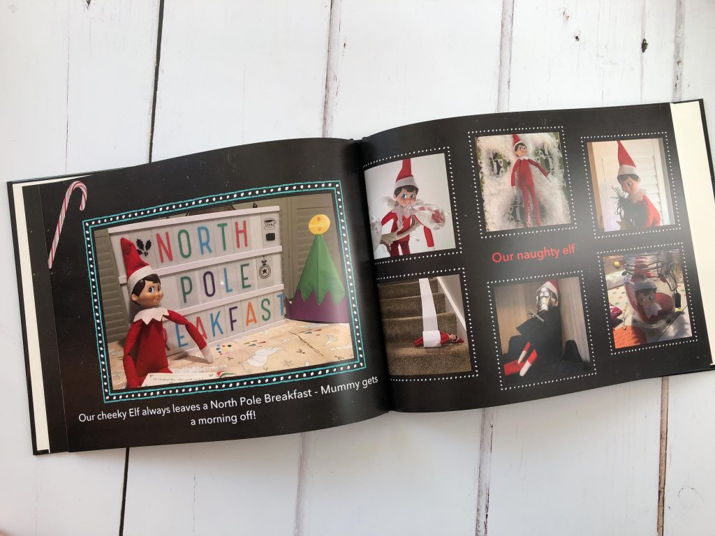 Creating a keepsake of Christmas memories with a photo book