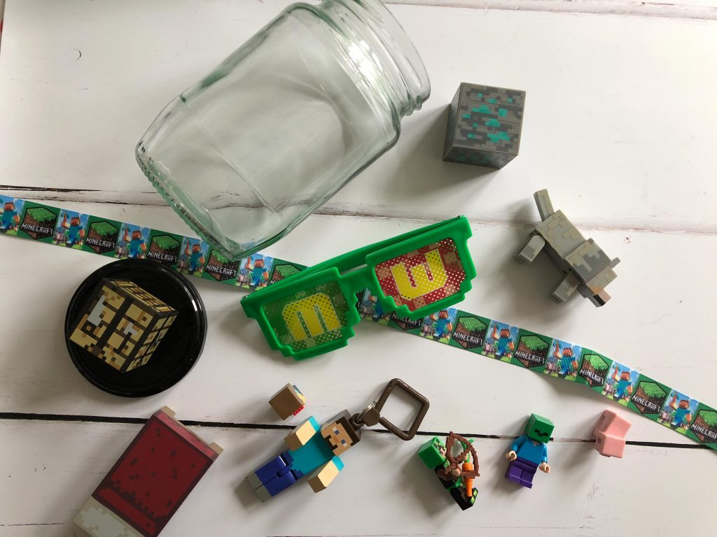 contents for a Kid made gift in a jar