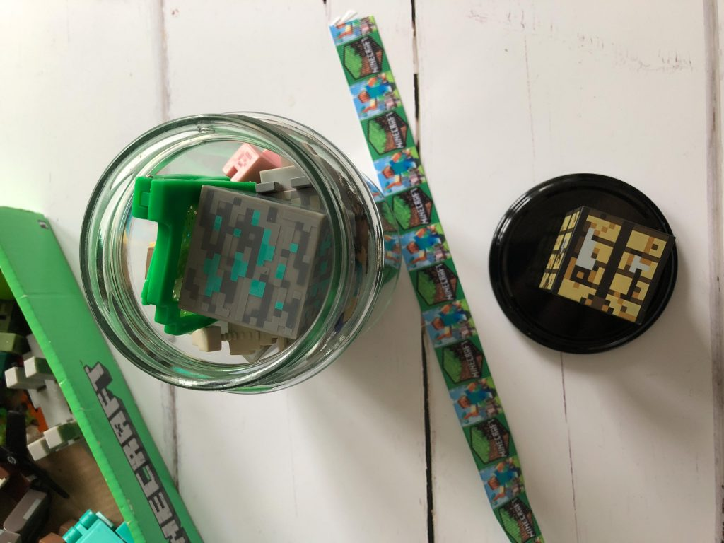 kid made Christmas gift for Minecraft fans