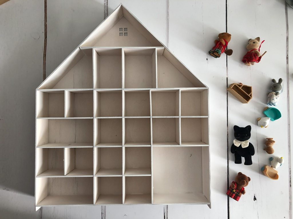 homemade Sylvanian Families advent calendar