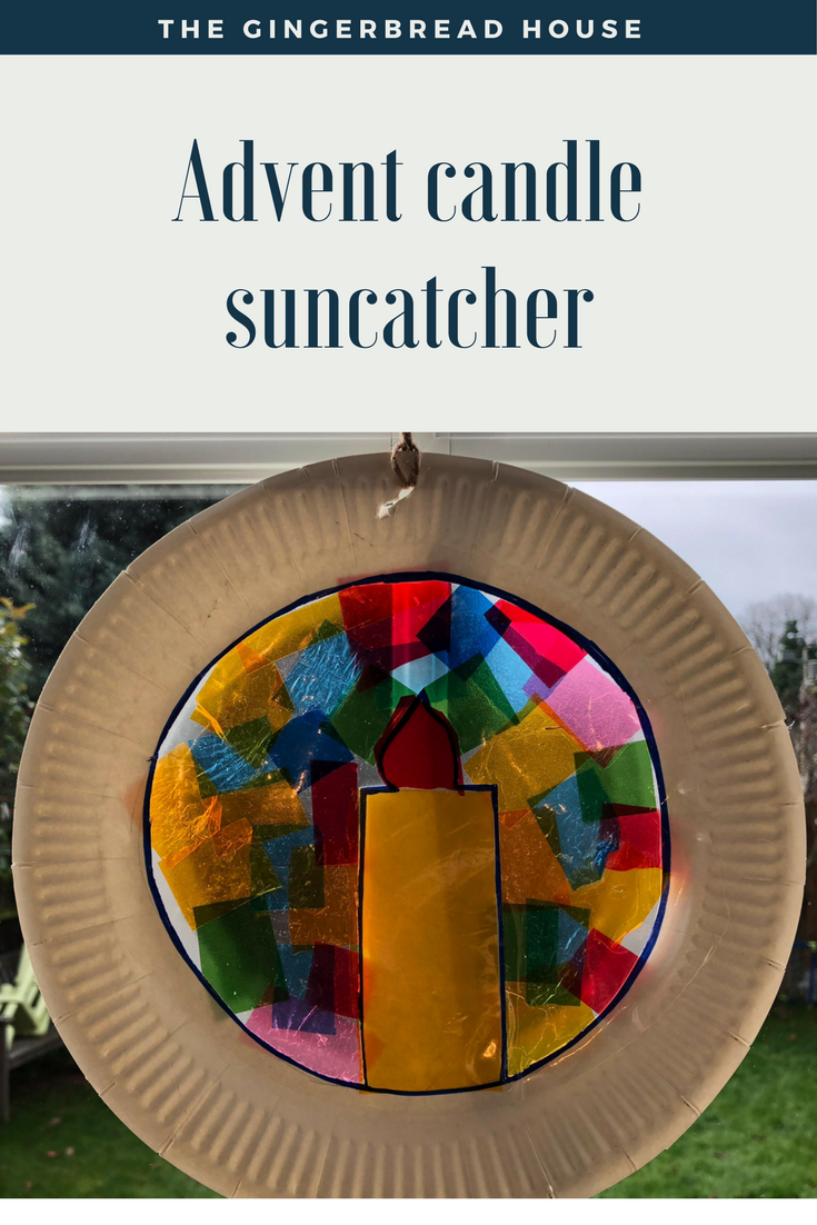 Advent Candle Suncatcher tutorial