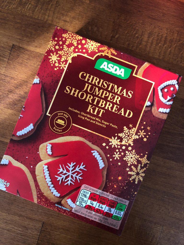 Christmas Jumper Shortbread Kit in Asda