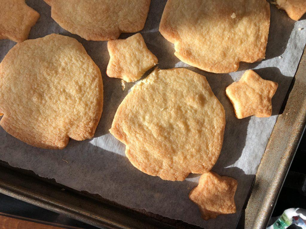 jumper-shaped shortbread