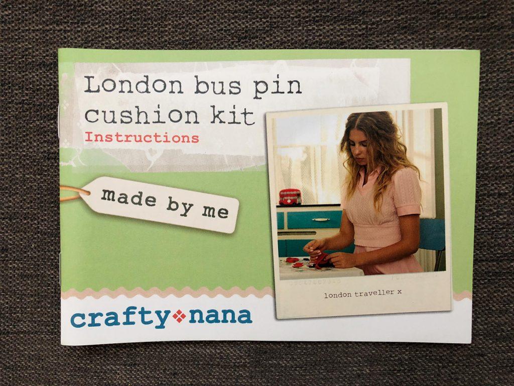 London Bus Pin Cushion Kit by Crafty Nana