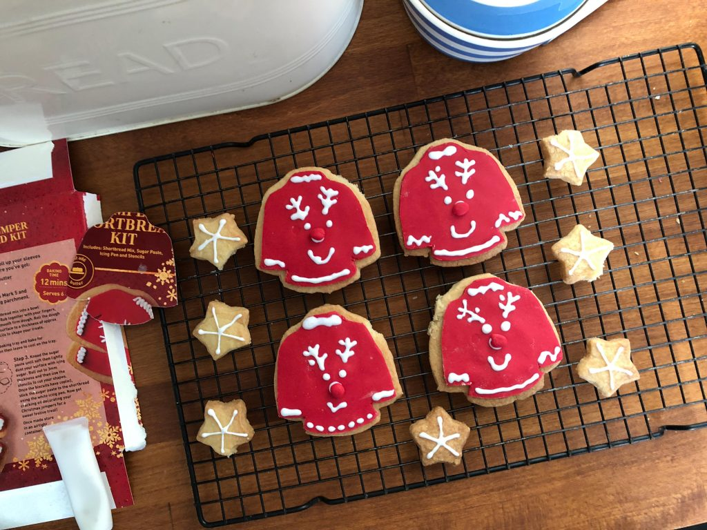Christmas jumper day biscuits