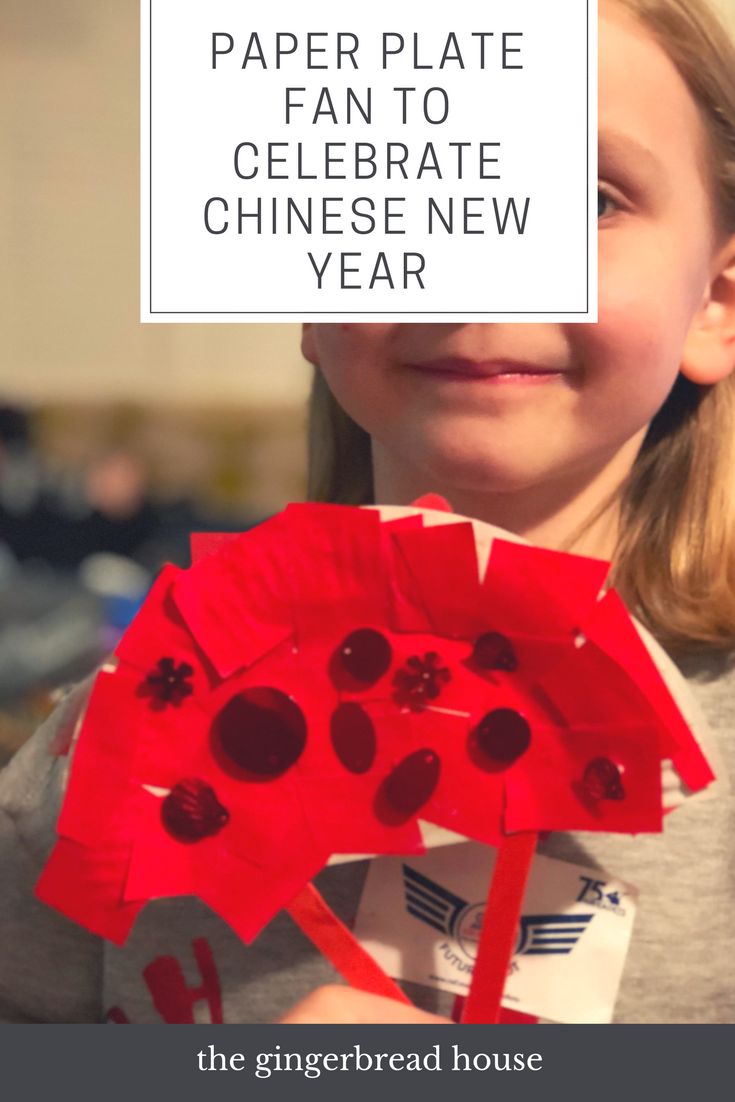 Paper plate fan to celebrate Chinese New Year