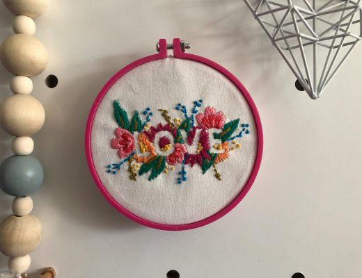 Mollie Makes Floral 'Let Love Bloom' Hoop Kit