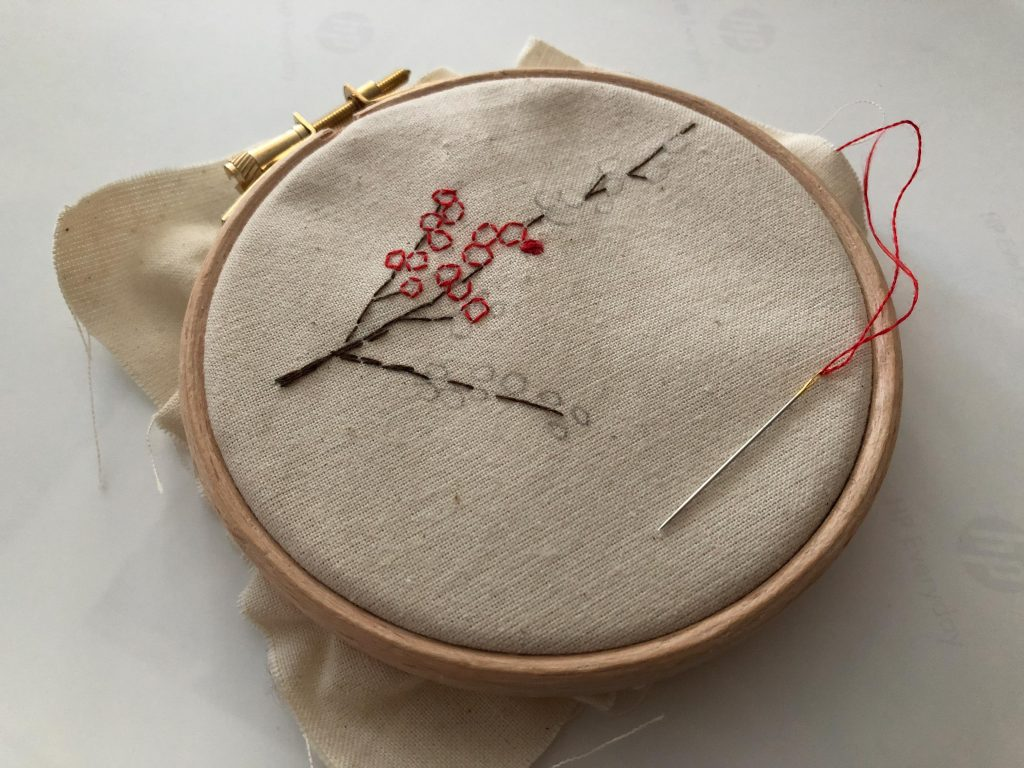 Winterberry Embroidery