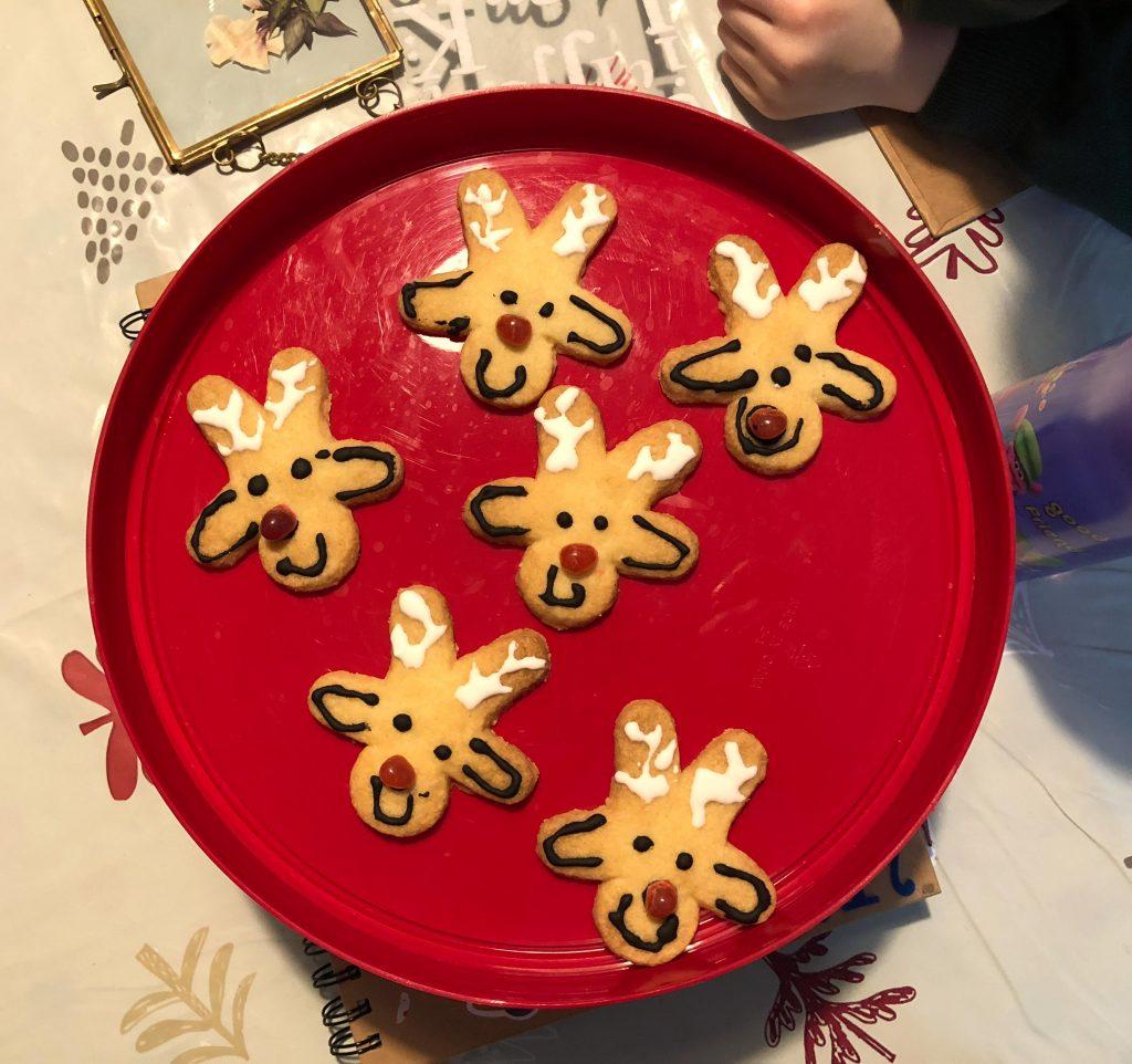 reindeer winter biscuits