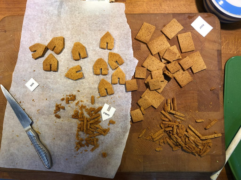 trimming gingerbread