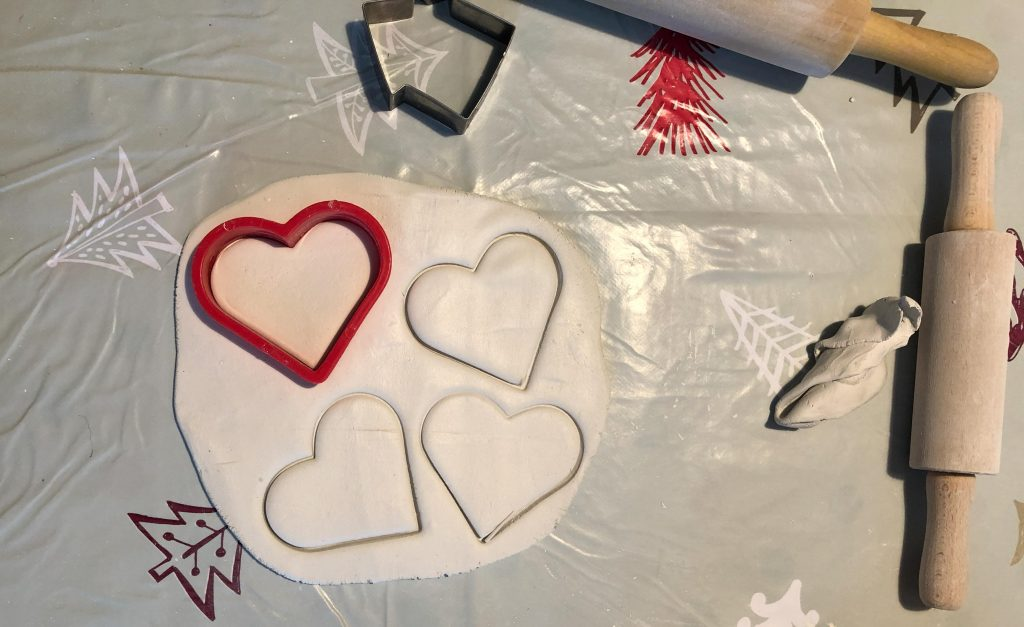fingerprint heart keepsake for Valentine's Day