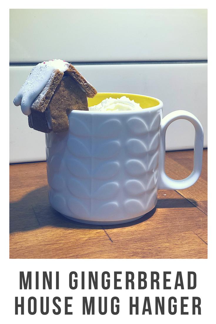 Mini gingerbread house mug hangers