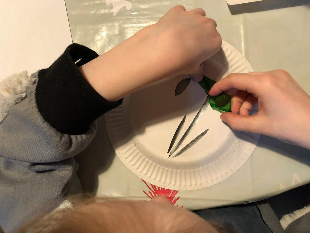 snowdrop sun catcher craft for kids