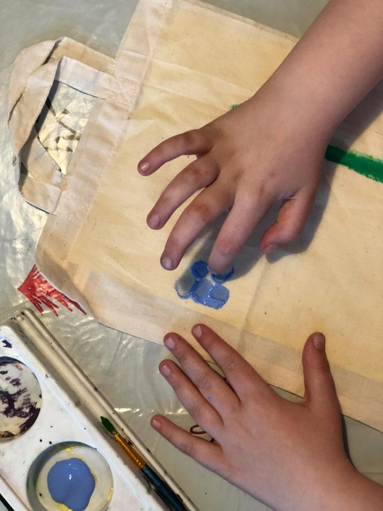 fingerprint flowers craft for kids