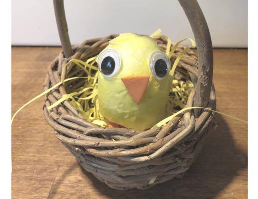 Polystyrene Easter chicks craft for kids