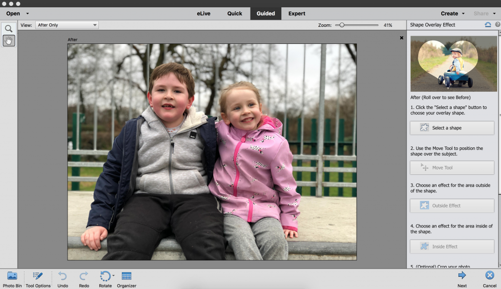 How to use the Shape Overlay Effect in PSE 2018