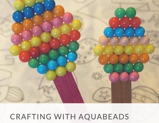 Aquabeads Easter egg bookmarks