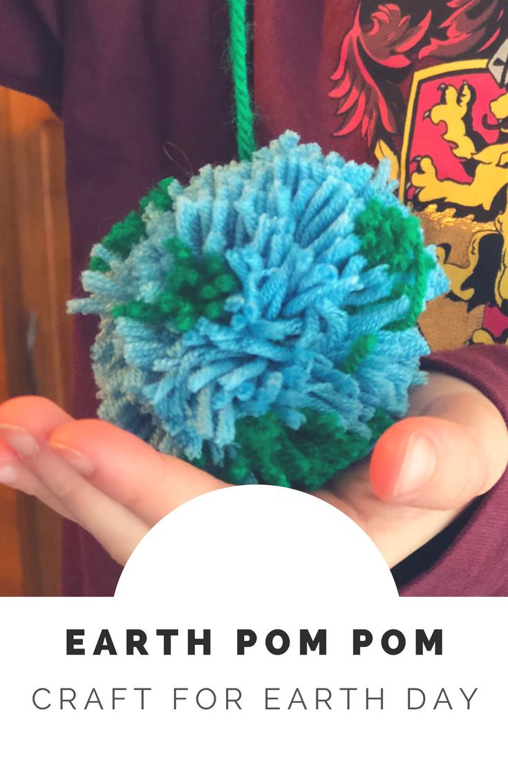 Earth pom pom craft for kids