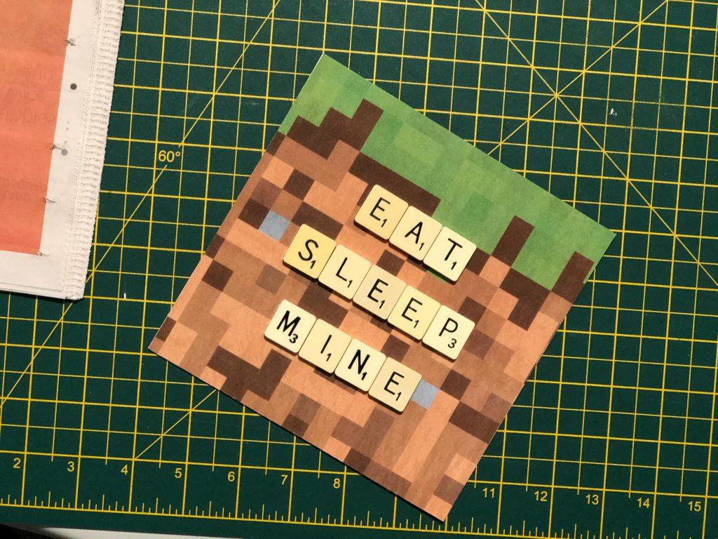 handmade Scrabble Minecraft gift