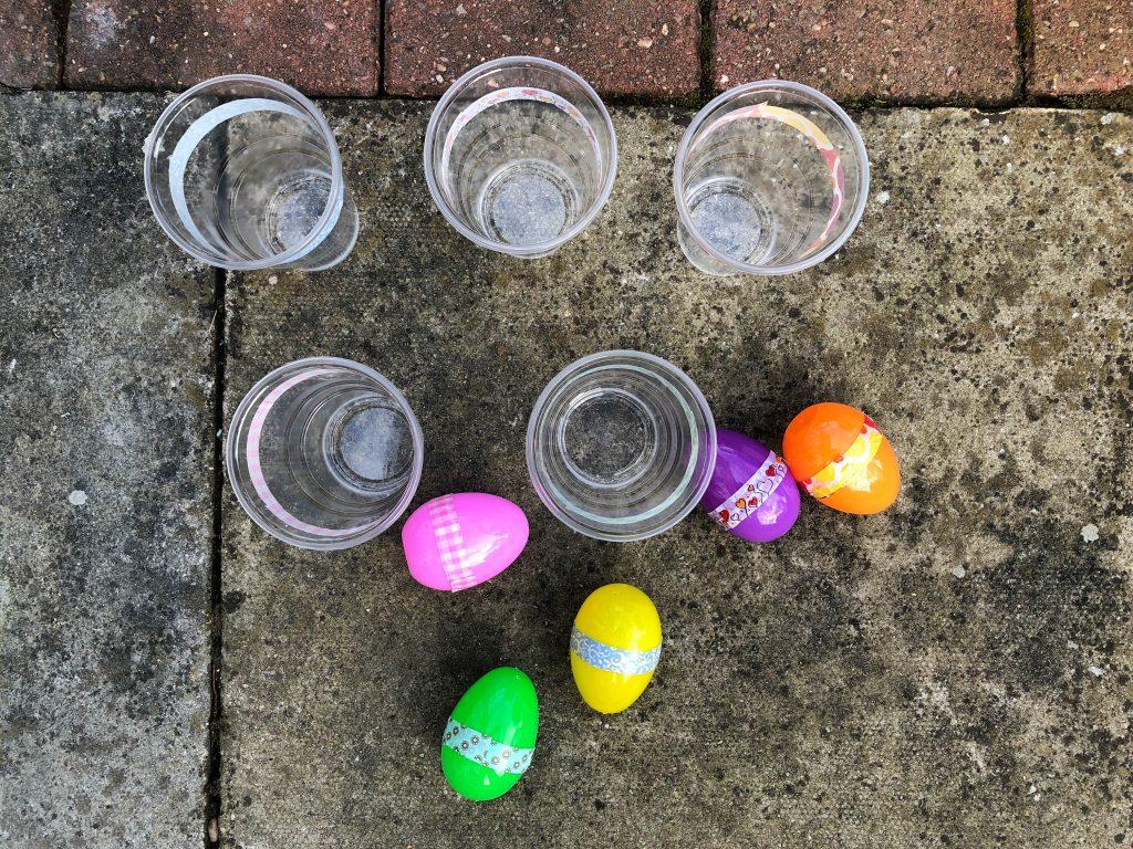 plastic egg toss game