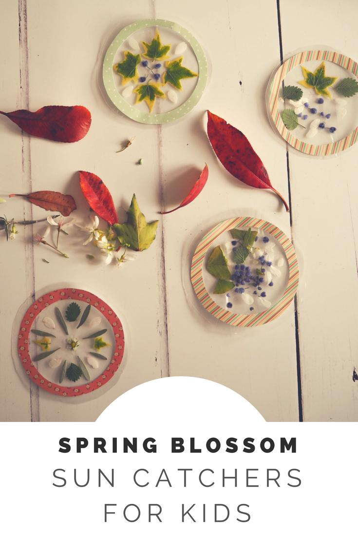 Spring blossom sun catcher craft