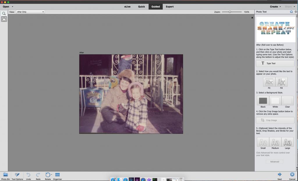 Photoshop tutorial step 1