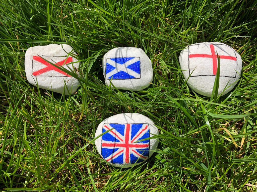 patriotic painted rocks