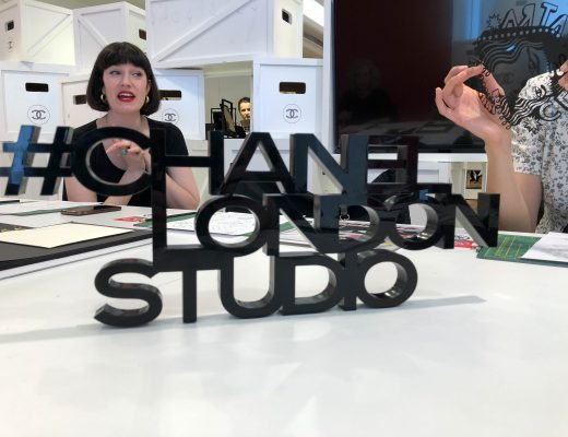paper cutting workshop with Poppy Chancellor at Chanel