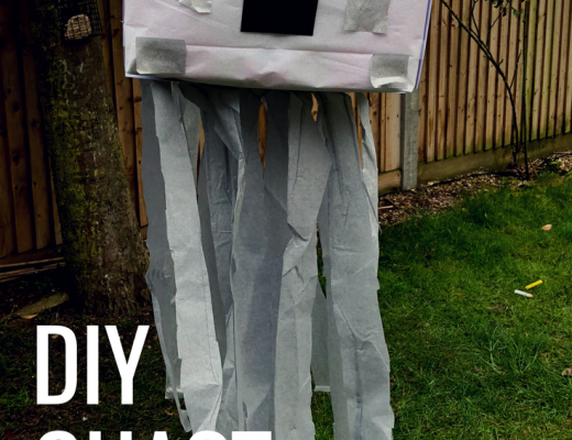 DIY Ghast pinata for a Minecraft birthday party