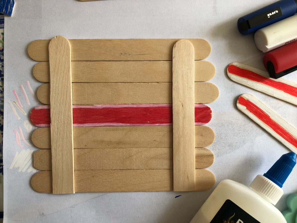 Royal Wedding craft stick flag