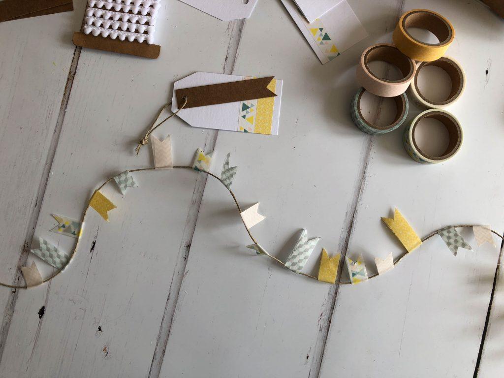 washi tape bunting tutorial