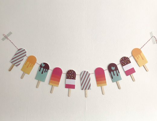paper ice lollies banner