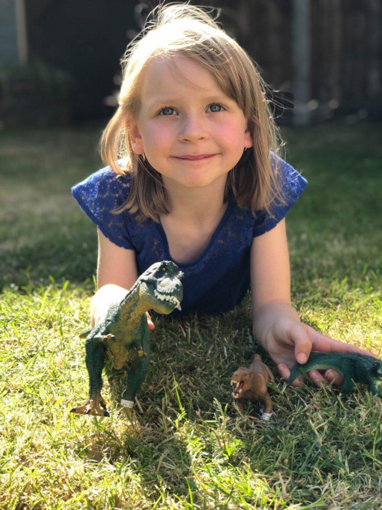 dinosaur play outside