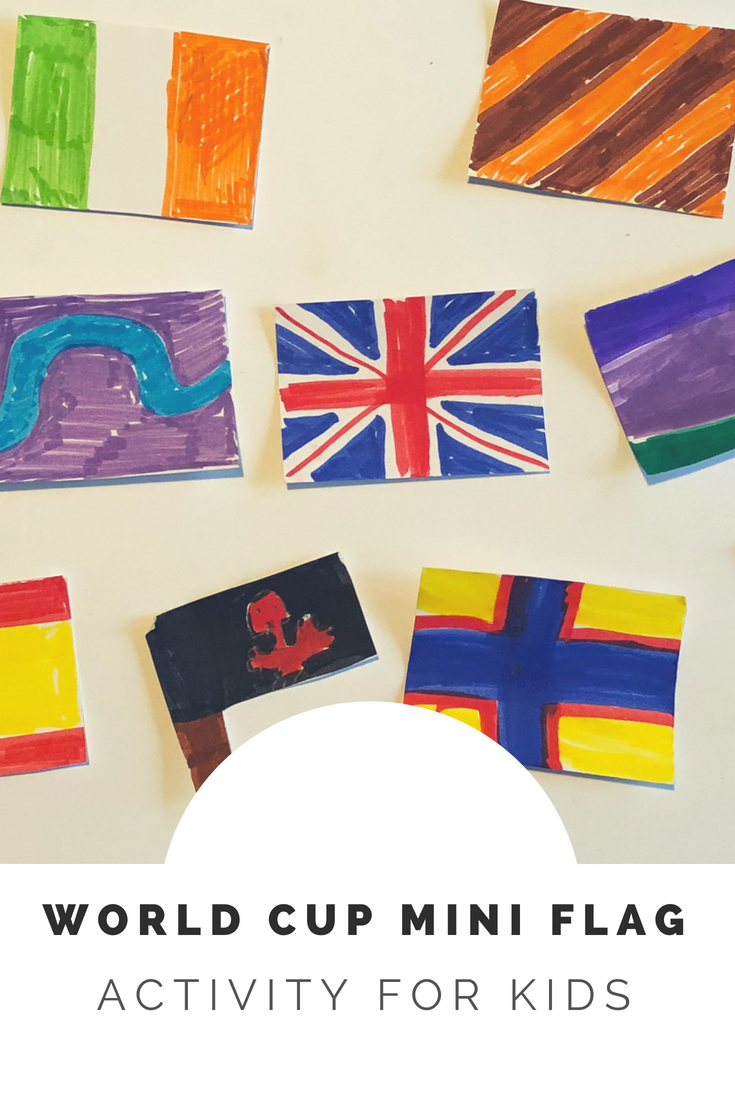 World Cup mini flags activity for kids