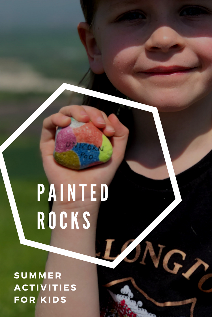 Summer activities for kids - painted rocks