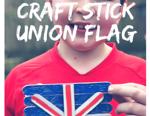 Royal Wedding craft stick union flag craft