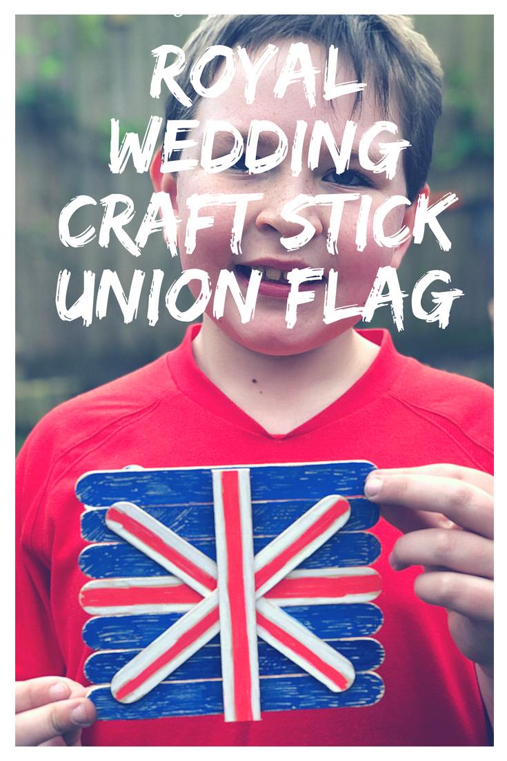 Royal Wedding craft stick union flag craft