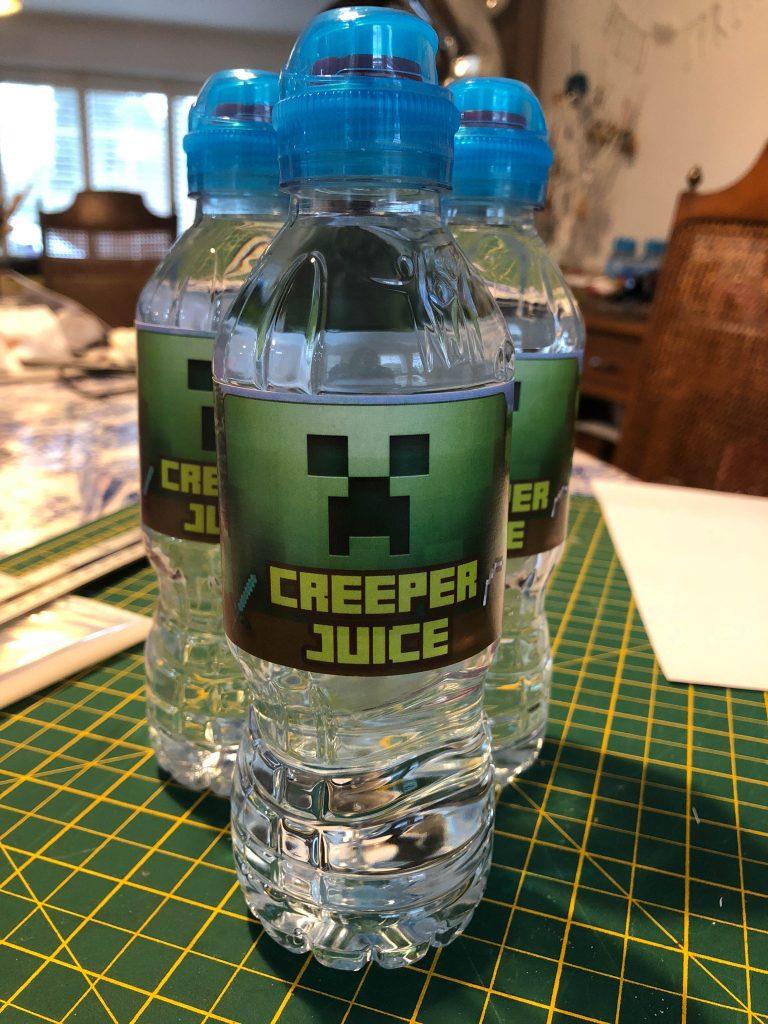 bottle of Minecraft Creeper Juice