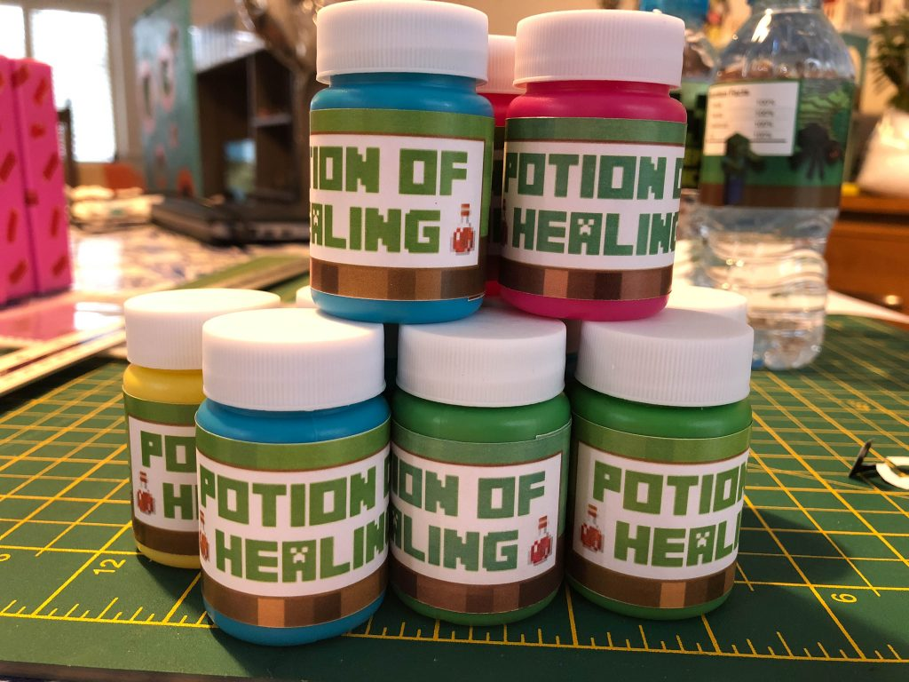 Minecraft free party printable Potion of Healing