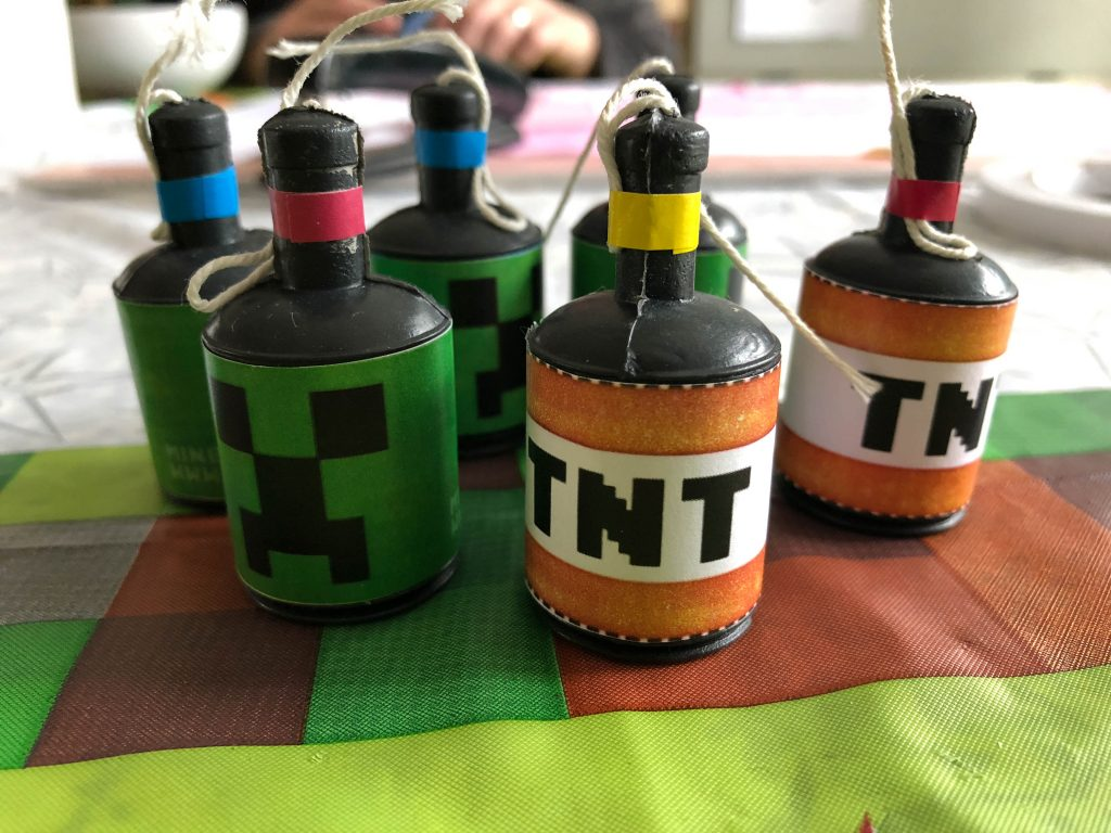 free Minecraft party printable