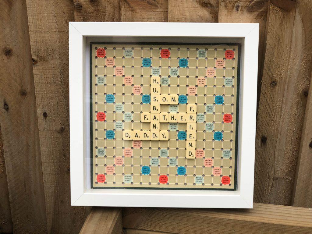 vintage Scrabble art handmade gift